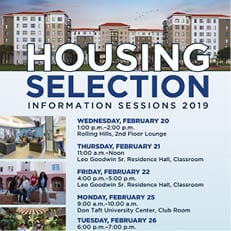 Housing Selection Information Sessions Winter 2019