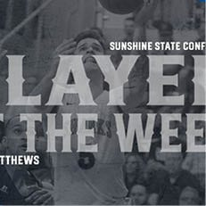 Matthews Repeats as SSC Player of the Week