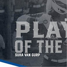 Van Gurp Earns SSC Softball Player of the Week Honors