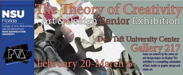 CAHSS DPVA Art and Design Seniors Curate and Exhibit Original Works on Feb. 20th