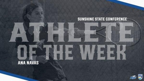Navas Named SSC Tenis Athlete of the Week