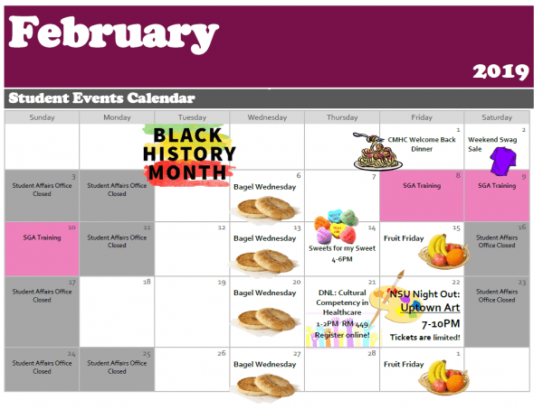 Palm Beach--Calendar of Events February 2019