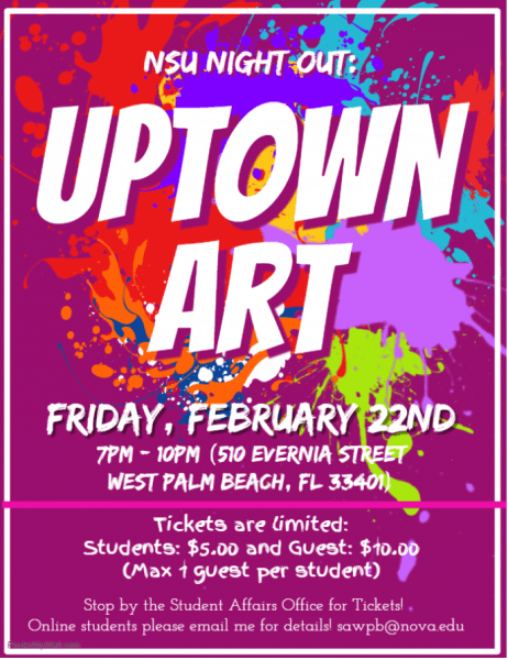 NSU Night Out: Uptown Art