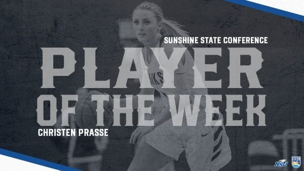Prasse Earns SSC Honors After Historical Week