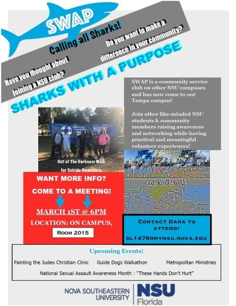 Sharks With A Purpose (SWAP) Meeting