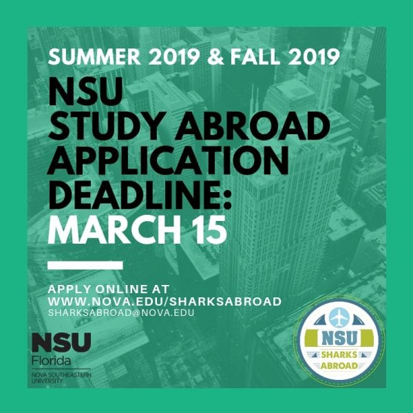 Summer/Fall 2019 Study Abroad Deadline