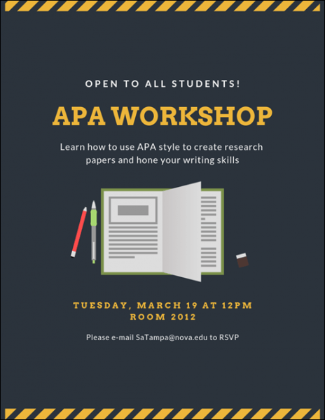 Dine & Learn: APA Format and Library Resources