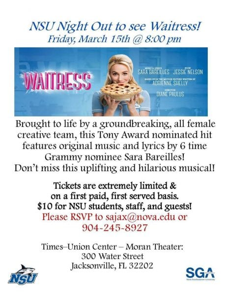 NSU Night Out to Waitress the Musical
