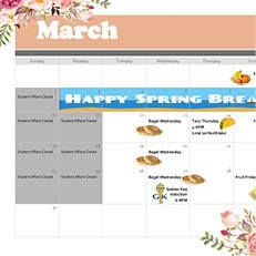 Palm Beach–Calendar of Events for March