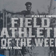 Sharks' Young Named Peach Belt Field Athlete of the Week
