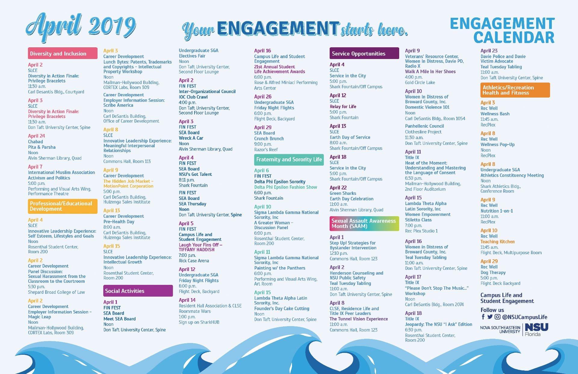 Engagement Calendar – NSU SharkFINS