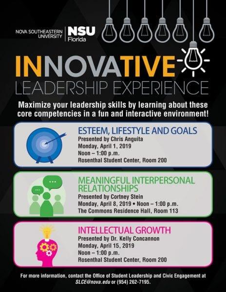 Innovative Leadership Experience - April 2019
