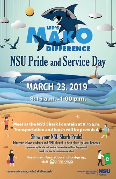 NSU Pride and Service Day - Mar. 23