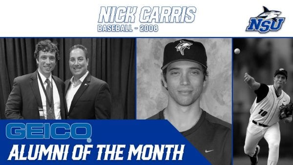 Nick Carris Selected as GEICO Alumni of the Month