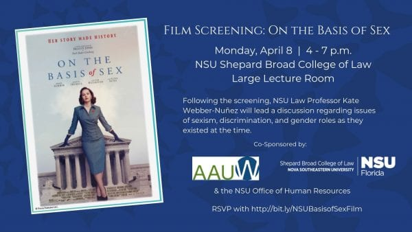 NSU Law Hosts Film Screening: On the Basis of Sex