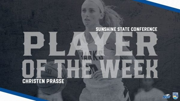 Prasse Earns Final SSC Player of the Week Honors