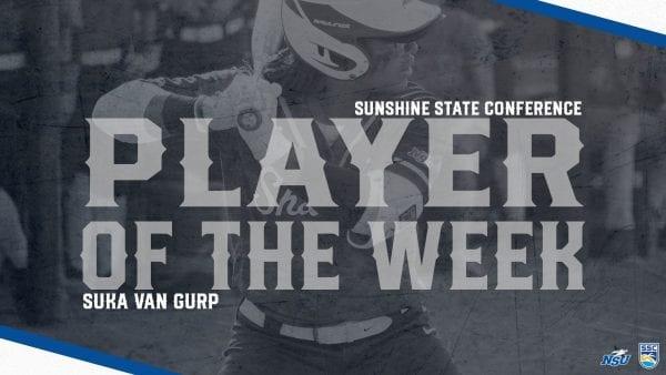 Van Gurp Earns Second SSC Player of the Week Honor