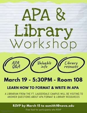 APA & Library Workshop