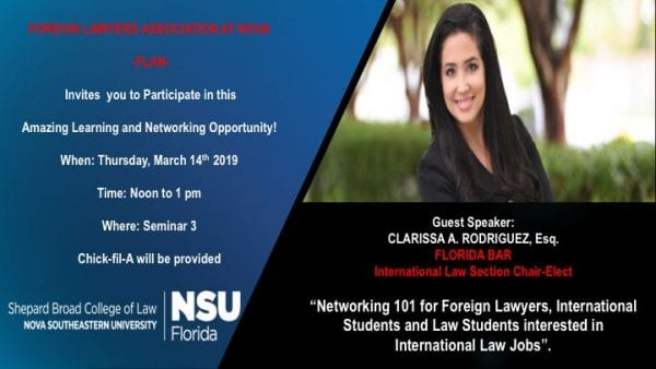 Networking 101 for Students Interested in International Law Jobs
