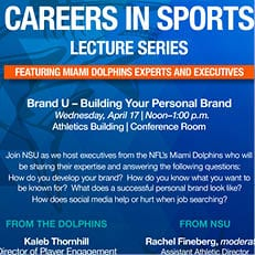 2019 Careers in Sports Lecture Series - Apr. 17