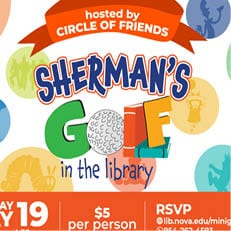 Sherman's Golf in the Library – May 19