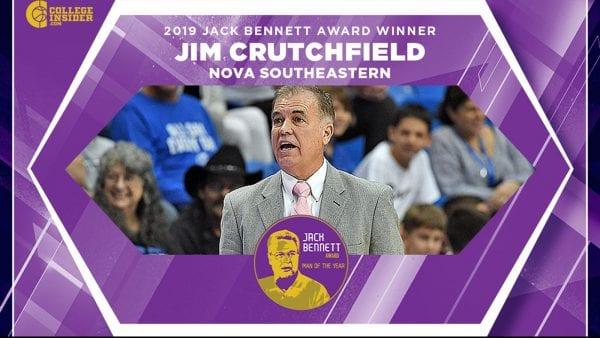Crutchfield Honored as 2019 Jack Bennett Award Recipient