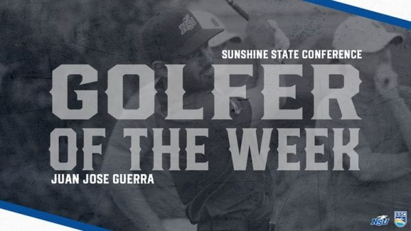 Guerra Scores Fourth SSC Men's Golfer of the Week Award