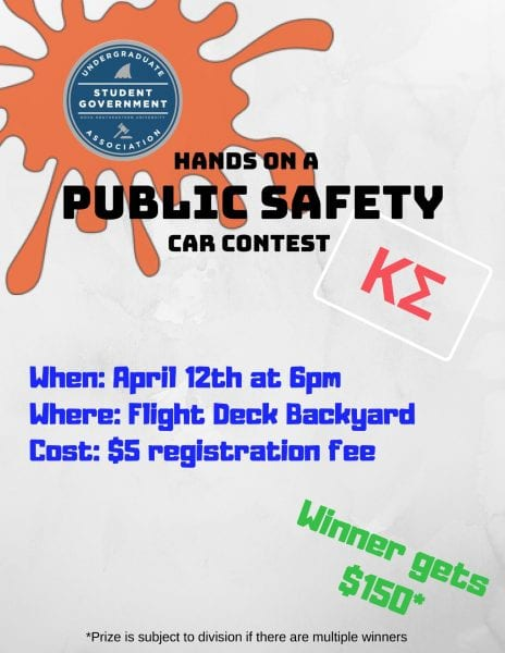 Hands on a Public Safety Car Contest - Apr. 12