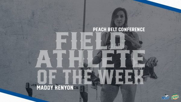 Kenyon Earns Second PBC Athlete of the Week After Another Record Week