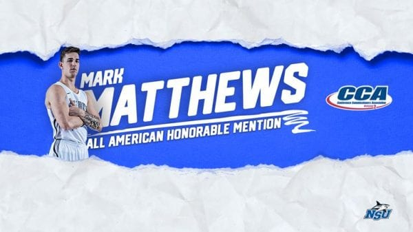 Matthews Recognized as D2CCA All-American