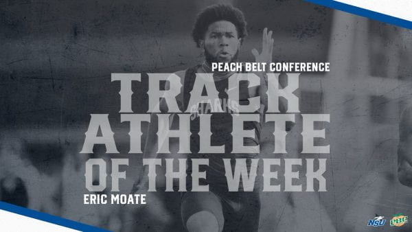 Moate Named Peach Belt Track Athlete of the Week