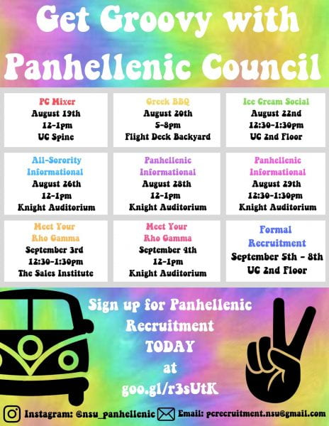 Get Groovy with Panhellenic Council