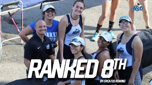 Sharks Rowing Ranked Eighth in the Nation