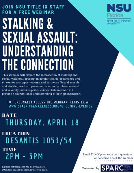 "Webinar - ""Stalking & Sexual Assault: Understanding the Connection"""