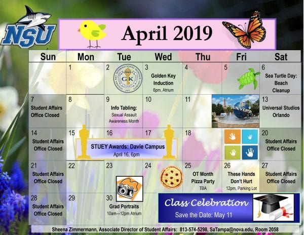 Tampa--Calendar of Events April 2019