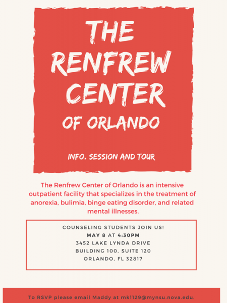 The Renfrew Center of Orlando: Info Session and Tour