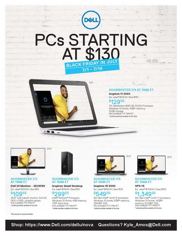 Dell Deal for NSU students – Black Friday in July – NSU
