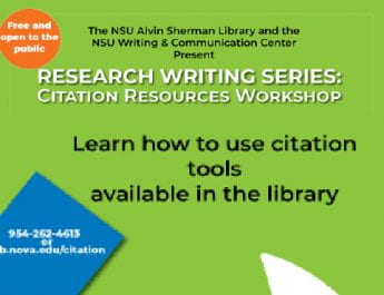 Research Writing Series: Citation Resources Workshop (Oct. 16 and 24)