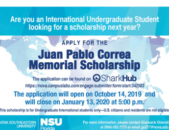 Juan Pablo Correa Memorial Scholarship (Application Opens Now to Jan. 13)