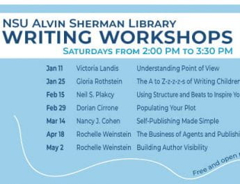 NSU Alvin Sherman Library Writing Workshops