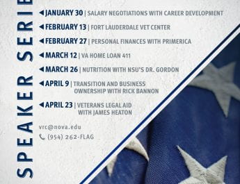 Veterans Resource Center Speaker Series (Starting January 30)