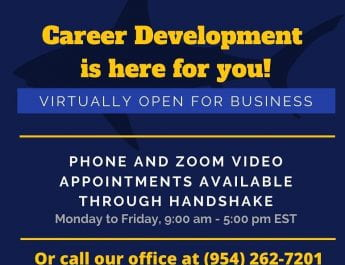 Career Development is Open for Virtual Business
