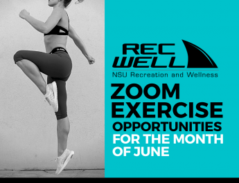NSU RecWell Zoom Exercise Schedule for June 2020