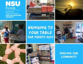 "NSU Puerto Rico Campus SGA Thanks ""Bringing To Your Table"" Donors"