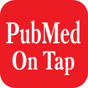 PubMed on tap app logo