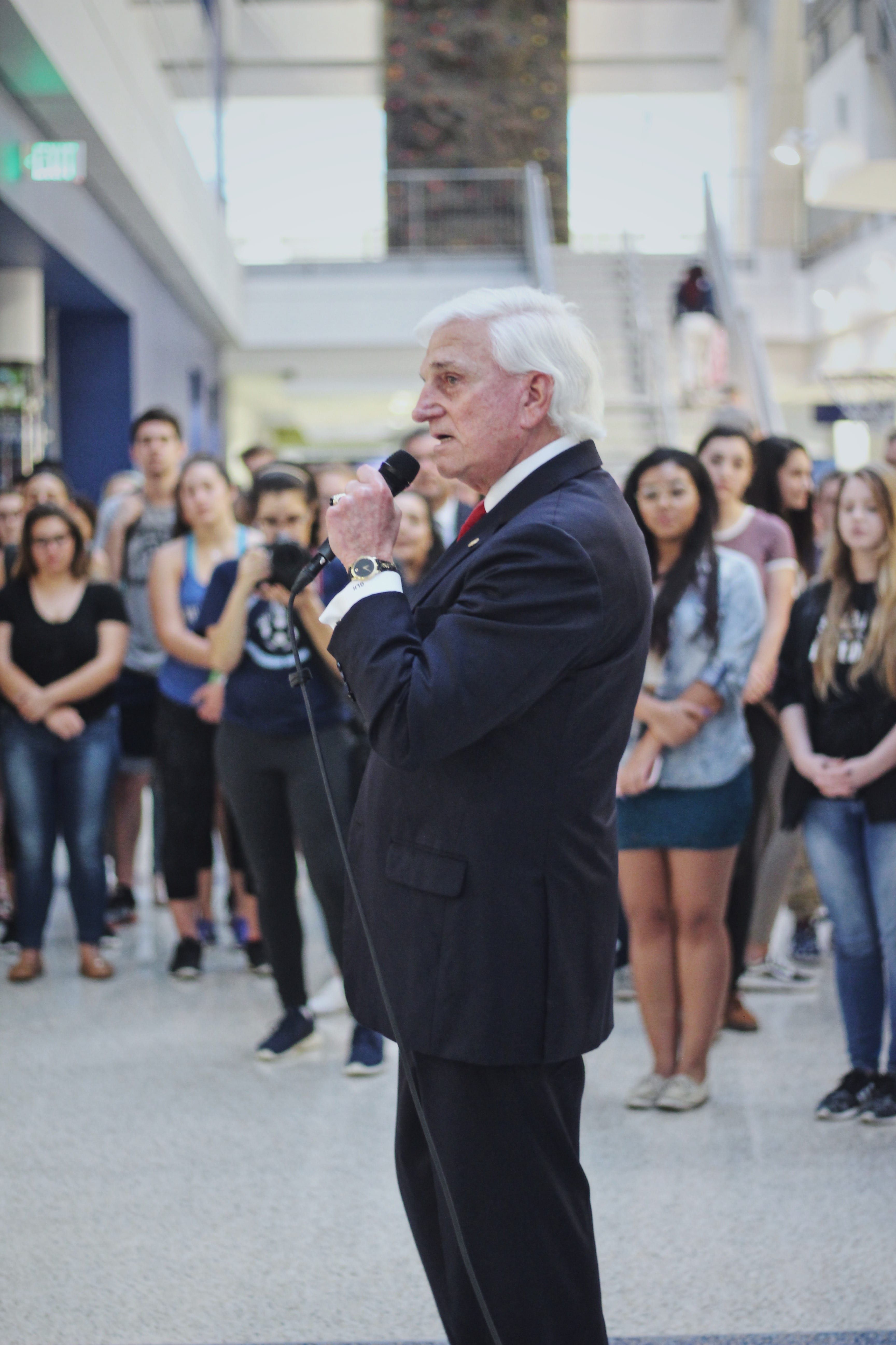President Hanbury speaks out against the legislative system and calls on  students and the community to work for a change