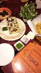 Printed with permission from S. Daryanani One of my favorite dishes is the shawarma trio which features chicken, beef and falafel with a side of french fries.