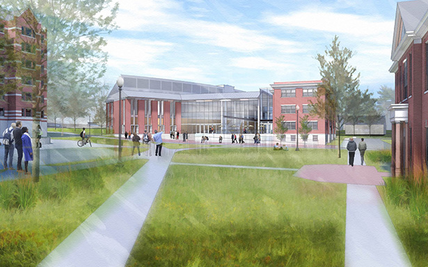 """""""We took great care with the design,"""" said School of Business Dean Sylvia Maxfield. """"We wanted to honor the educational tradition of Providence College, but we also wanted to signal that we are moving into a 21st century education."""""""