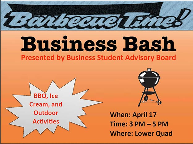 The PCSB Student Advisory Board is hosting a barbecue with outdoor activities on Friday, April 17, between 3 and 5 p.m. on the Smith Center Lawn.