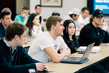 Students at the school of business